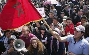 Manifestations à Rabat, au Maroc, le 20 février 2011.
