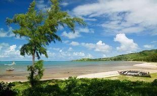 Une plage de l'île Rodrigues.