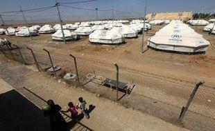 Un camp pour les personnes déplacées ayant fui les violences de Mossoul à Debaga, dans le nord de l'Irak, le 9 mai 2016