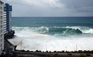 Une tempête a frappé l'archipel des Canaries ce week-end.