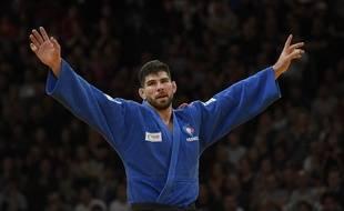 Le judoka Cyrille Maret lors du Grand Slam de Paris, le 11 février 2018.