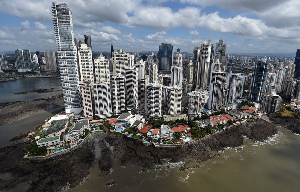 Vue aérienne de la ville de Panama. – RODRIGO ARANGUA / AFP