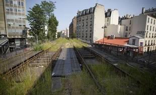 Le 26 juin 2013. Visite de la petite ceinture dans le 19eme arrondissement à Paris.