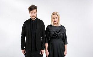Le duo Norma John, composé de Lasse Piirainen et de Leena Tirronen, candidats de la Finlande à l'Eurovision 2017.