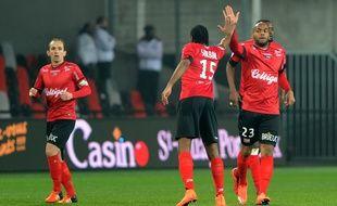 Jimmy Briand a inscrit samedi son 6e but cette saison en Ligue 1 avec Guingamp. FRED TANNEAU