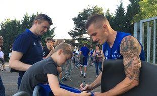 Dimitri Liénard a signé les premiers autographes de cette nouvelle saison.