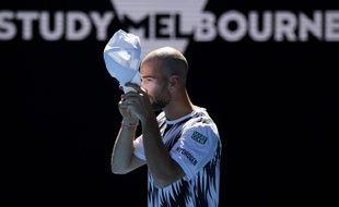 Adrian Mannarino s'est incliné au 3e tour de l'Open d'Australie face à Zverev, le 12 février 2021.