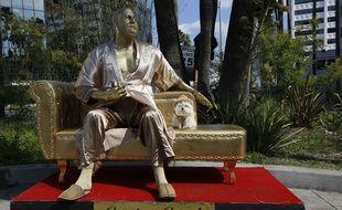 «Casting Couch», l'œuvre de Plastic Jesus et  Joshua «Ginger» Monroe à Los Angeles le 1er mars 2018.