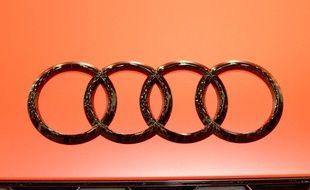 Illustration du logo d'Audi, la marque de voiture a rappelé 875.000 voitures pour risque d'incendie.