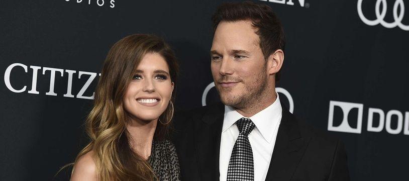 Chris Pratt et sa nouvelle épouse, Katherine Schwarzenegger, le 22 avril 2019.