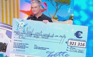 Eric est reparti avec un beau chèque après 199 participations