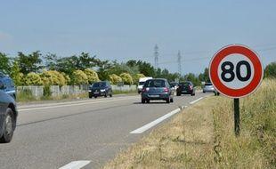 L'année dernière, le passage aux 80 km /h a permis une forte baisse du nombre de morts sur les routes.