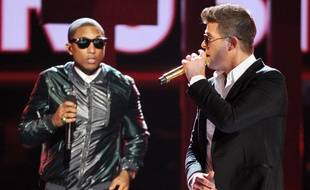Pharrell Williams et Robin Thicke en juin 2013