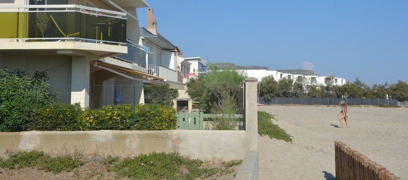 Des résidences, à Palavas-les-flots.