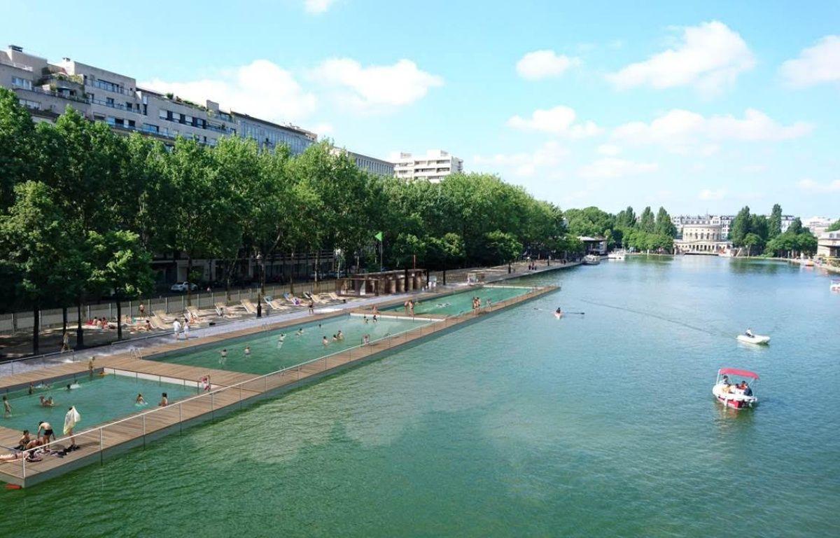 Bassin de la villette la mairie de paris d voile les for Piscine paris 19eme