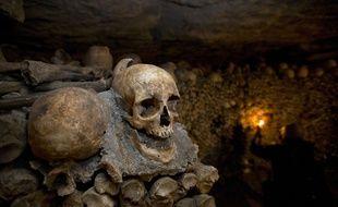Illustration des catacombes à Paris, en octobre 2014.