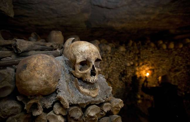 Illustration des catacombes à Paris, en octobre 2014.