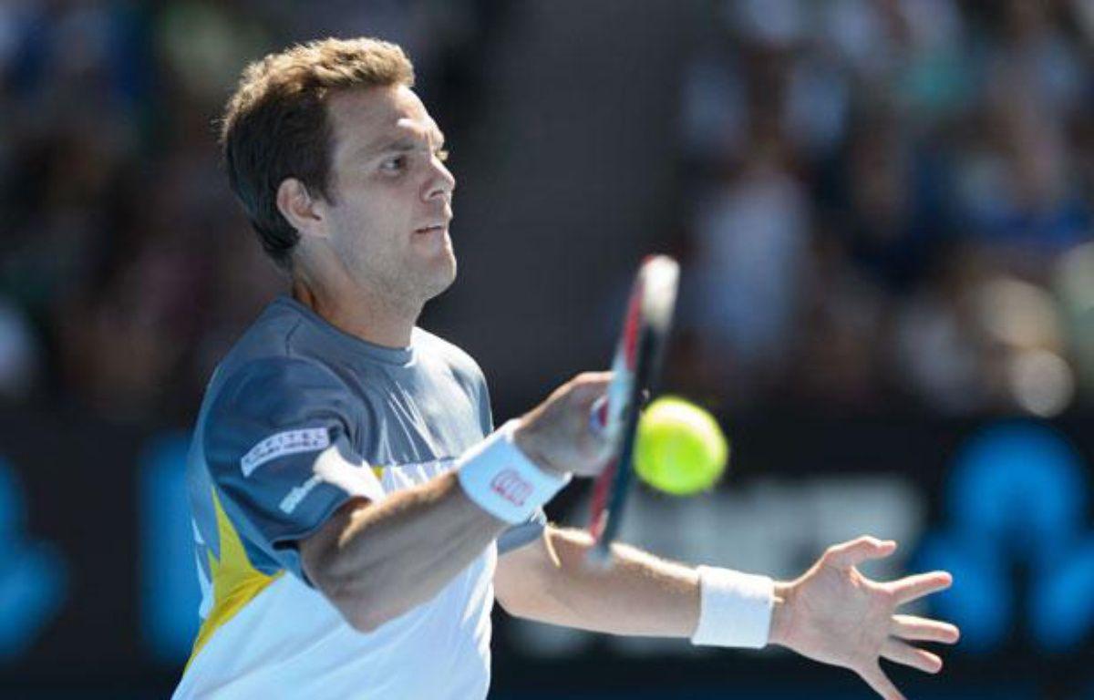Paul-Henri Mathieu lors de l'Open d'Australie le 14 janvier 2013. – Sydney Low/NEWSCOM/SIPA