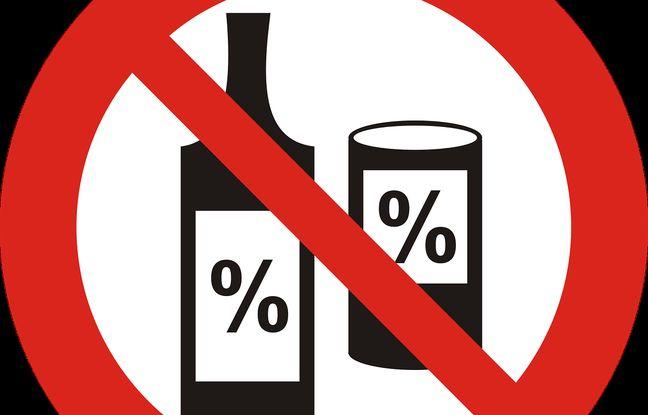 Illustration d'une pancarte non à l'alcool.