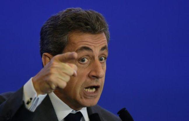Le président des Républicains Nicolas Sarkozy lors d'un discours sur l'agriculture à Paris, le 3 février 2016