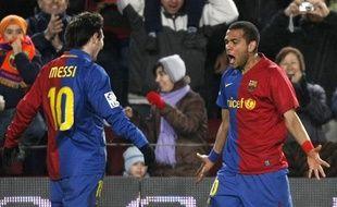 L'Argentin Messi et le Brésilien Alves sont très complémentaires dans le Barcelone version 2008-2009.