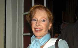 La comédienne Catherine Rich est décédée le 19 janvier 2021 à l'âge de 88 ans, ici à la première de la pièce «La Belle Mémoire» au Théâtre Hébertot à Paris