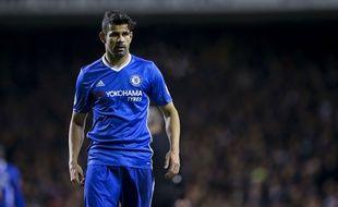 Diego Costa lors du match entre Chelsea et Tottenham le 4 janvier 2017.