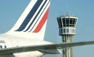 Air France aéroport Saint Exupéry à Lyon, image d'illustration