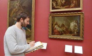Simon Gauchet a eu l'idée de recopier les oeuvres du musée des Beaux-Arts.