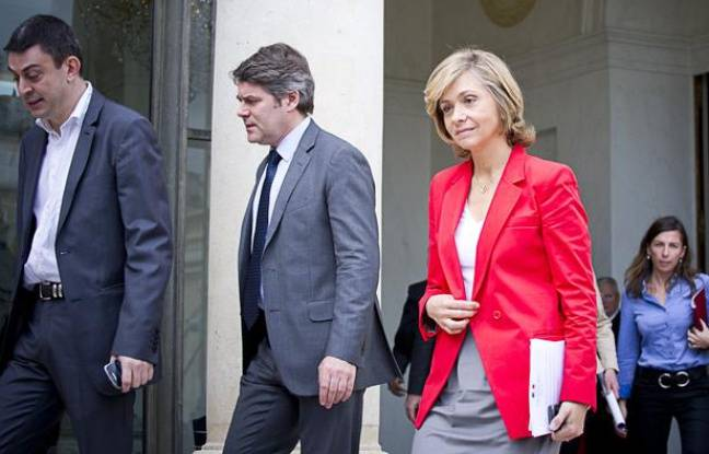 Valérie Pécresse à la sortie du dernier conseil des ministres du gouvernement Fillon le 9 mai 2012.