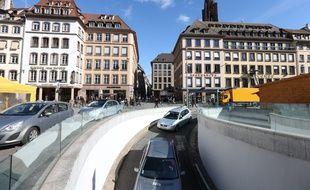 Strasbourg le 28 02 2014. Illustration stationnement voiture