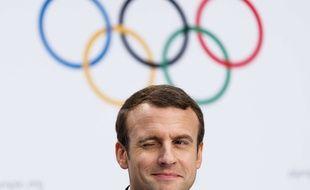 Emmanuel Macron lors de la conférence de presse Paris-2024 à Lausanne, le 11 juillet 2017.
