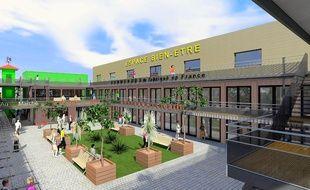 Une vue en 3D du futur village des talents créatifs