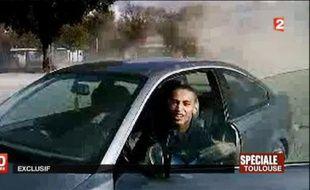 Capture d'écran d'une video de France 2 en date du 21 mars 2012, de Mohamed Merah
