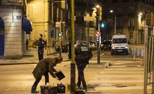 Un automobiliste a délibérément fauché des piétons le 21 décembre 2014 à Dijon (Côte-d'Or).