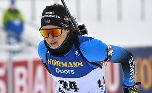 Anaïs Chevalier-Bouchet termine sur le podium lors de l'individuel à Anterselva.