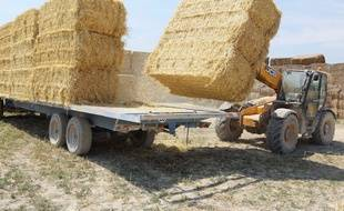 La remorque de ballots de paille s'est renversée sur l'agriculteur, qui n'a pas pu être secouru.