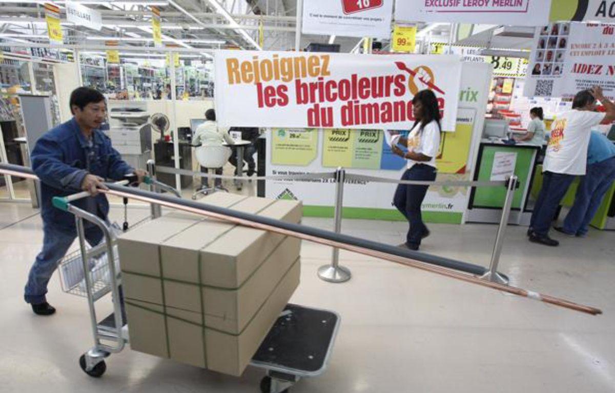 Le magasin Leroy Merlin de Vitry-sur-Seine (Val-de-Marne) a ouvert ses portes le dimanche 29 septembre 2013, malgré l'interdiction judiciaire. – A. GELEBART / 20 MINUTES
