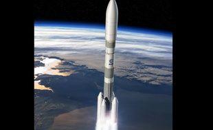 Illustration numérique d'Ariane 6