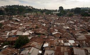 Le bidonville de Katanga, dans la capitale ougandaise de Kampala, le 18 décembre 2012