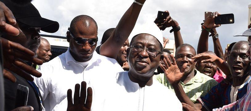 Le candidat de l'opposition à la présidentielle malienne Soumaïla Cissé, à Bamako le 13 août 2018.