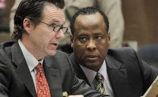 Le Docteur Conrad Murray, accusé de l'homicide involontaire de Michael Jackson, lors des auditions préliminaires, à Los Angeles, le 25 janvier 2011