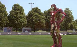 Arjen Robben se transforme en Iron Man pour une publicité pour Sky Sport.