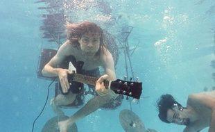 Kurt Cobain, chanteur et guitariste du groupe Nirvana.