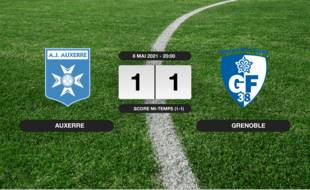 Ligue 2, 37ème journée: Match nul entre Auxerre et Grenoble (1-1)