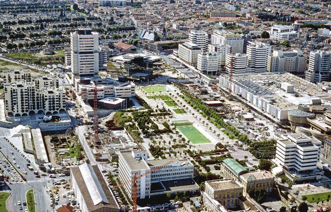 La construction du quartier Meriadeck à Bordeaux