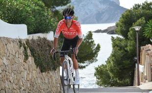 Le coureur cycliste de l'équipe Arkéa-Samsic Nairo Quintana, ici lors du tour de la Provence en février 2020.