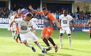 Andy Delort, ici face à Rennes, Gaêtan Laborde et Florent Mollet s'entendent comme larrons en foire, sur et hors du terrain.