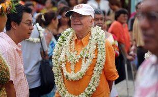 Gaston Flosse le 28 septembre 2014 à Papeete