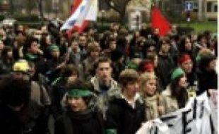Manifestation à Lille le 21janvier 2010.